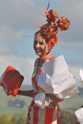 Maddy wearing Ooby Ryn winning fashion in the field Hawkes Bay races