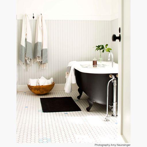svart badkar