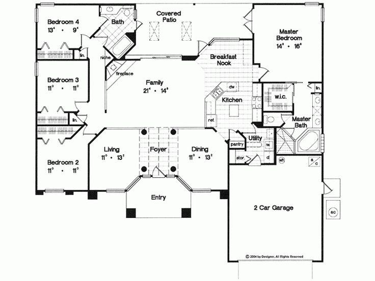 Eplans mediterranean house plan elegant one story home for Eplans mediterranean house plans