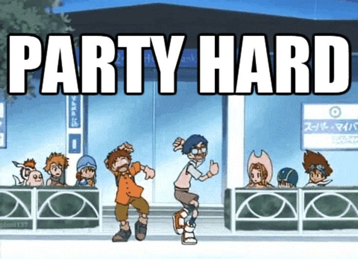 These Digimon Anime Memes are Super Funny: Party Hard Digimon Meme