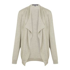 Cream Waterfall Cardigan with Lurex Sparks