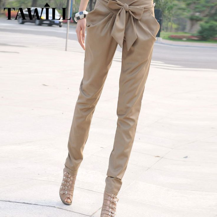 Find More Pants & Capris Information about Harem Pants For Women 2015 Fashion Trousers Skinny OL Bow Slim Pantalones Mujer New Casual Lady Elegant Cotton Plus Size PT17,High Quality Pants & Capris from TAWILL- brand shop on Aliexpress.com