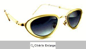 Raven Oval Resin Sunglasses - 422 Ecru