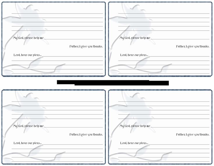 Prayer Request Cards Template in 2020 Card templates