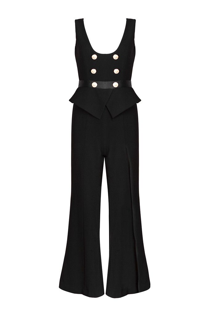 Shop the amazing Honey Couture SHERIDAN Black Peplum Gold Button Jumpsuit online now, get FREE shipping on all orders over $100 in Australia. Pay via AfterPay & ZipPay. We ship WORLDWIDE! #style #getthelookforless #onehoney #australianboutique #polipay #onlinestore #aussieboutique #onlineboutique #weshipworldwide #clothingboutique #zippay #ootd #onehoneyboutique #celebstyle #afterpay  https://goo.gl/1QE4DH
