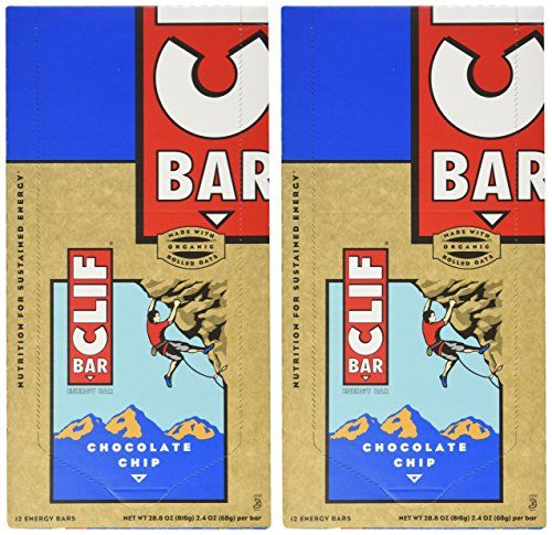 Clif Bar Energy Bar, Chocolate Chip, 2.4-Ounce Bars, 12 Count (Pack of 2) ** Be sure to check out this awesome product.