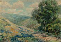 Jessie Palmer (American, 1882-1956) Bluebonnet Patchwork Oil on canvas 16-3/4 x 21-1/2 inches (42.5 x 54.6 cm) Signe