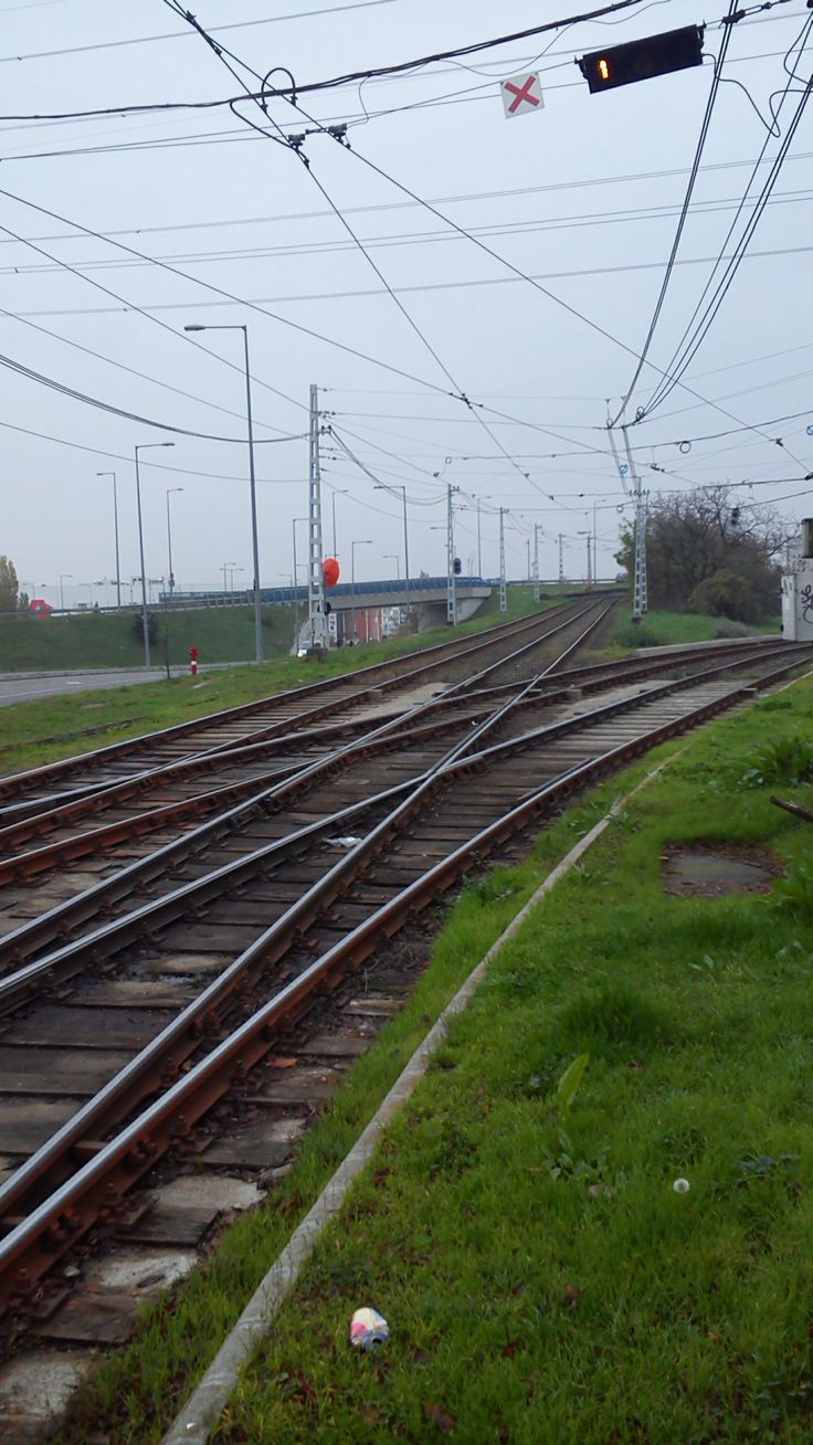 Tram tracks juction at Budafok, #Budapest #Hungary