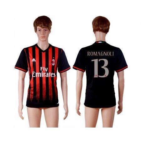 AC Milan 16-17 #Romagnoli 13 Hemmatröja Kortärmad,259,28KR,shirtshopservice@gmail.com