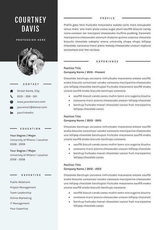 3 Pages Resume Template - Professional CV Template - for Microsoft