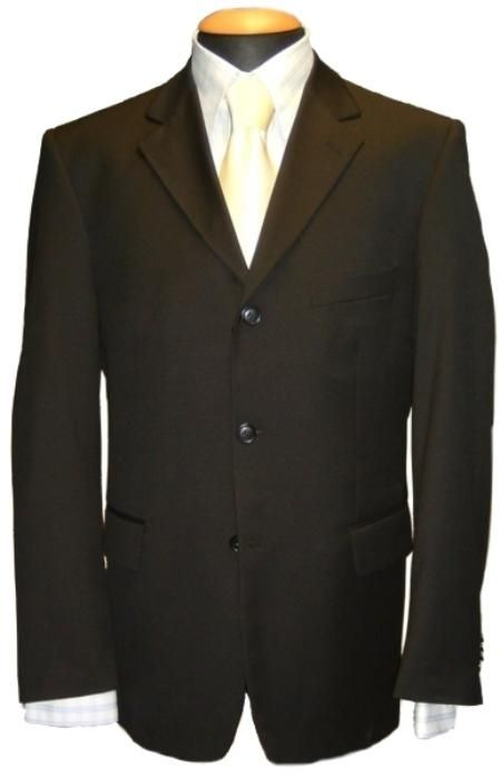 suits for men Jacket features include 3 button front entry with notched satin lapels Two front pockets Single breast pocket.