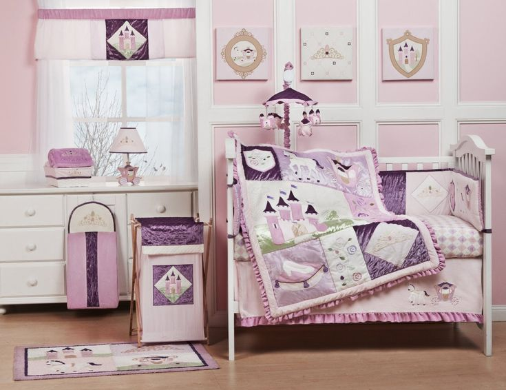 Baby Nursery. Girl Baby Nursery Themes With Pink White Colored Wall And  Furniture Plus Brown