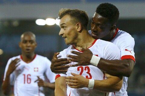 Swiss Football Team ⚽ Xherdan Shaqiri and François Moubandje ♡