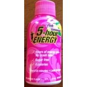 I just looked up 5-hour Energy Pink Lemonade on @Fooducate  Fooducate grades foods based on their nutrients and ingredients.  Give it a try!
