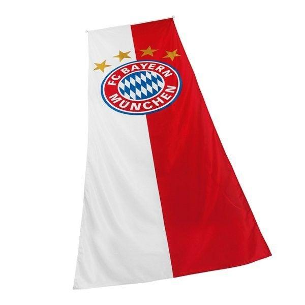 Hissfahne Logo 120 x 300cm FC Bayern München - Bundesliga, Fahnen & Flaggen, Fanartikel, Fußball, Soccer - http://www.multifanshop.de