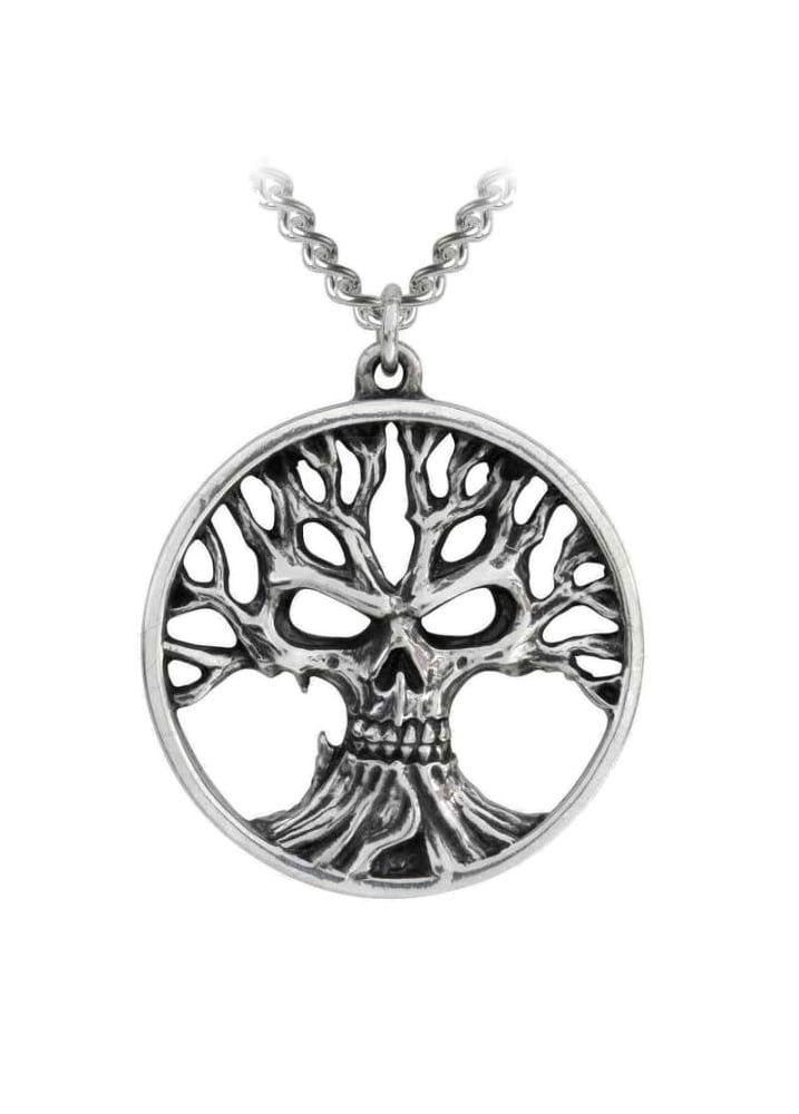 Alchemy Gothic Gotik Tree Of Death Pendant | Attitude Clothing
