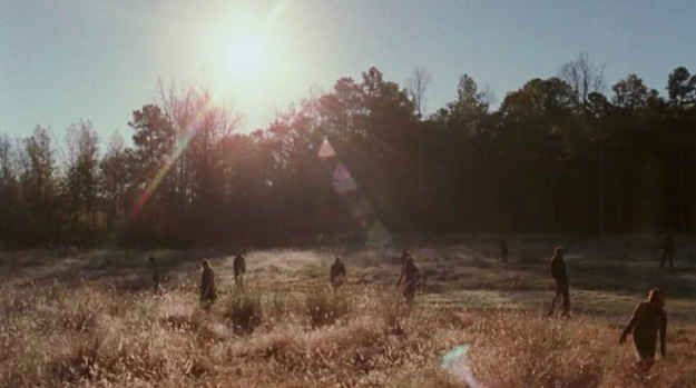 """Oh, and the world is still filled with horrifying zombies who are trying to enjoy a nice sunny afternoon stroll. 
