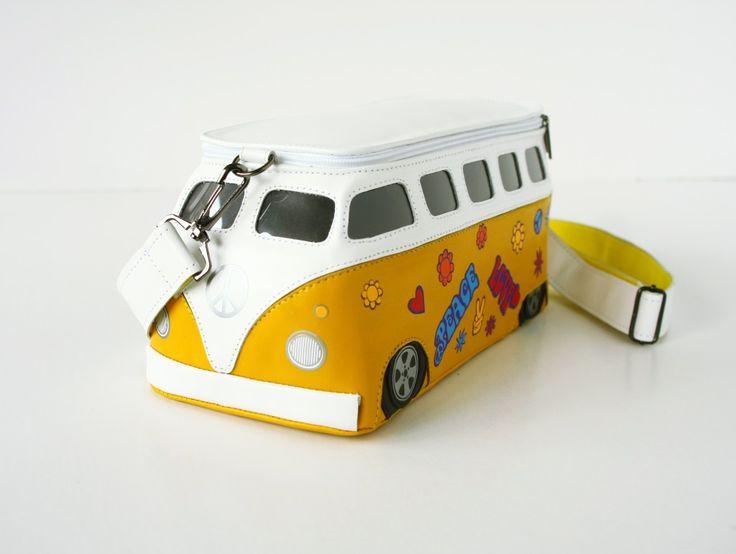 Сумка Автобус Хиппи кожа | krukrustudio - оригинальные сумки-подарки, молодежные сумки-объекты.