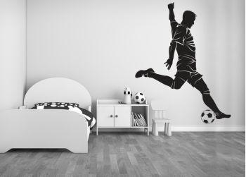 Ποδοσφαιριστής αυτοκόλλητο βινυλίου