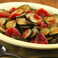 Sautéed Zucchini and Tomatoes... A quick sautéed zucchini recipe combined with stewed tomatoes makes for a tasty side dish in just 15 minutes