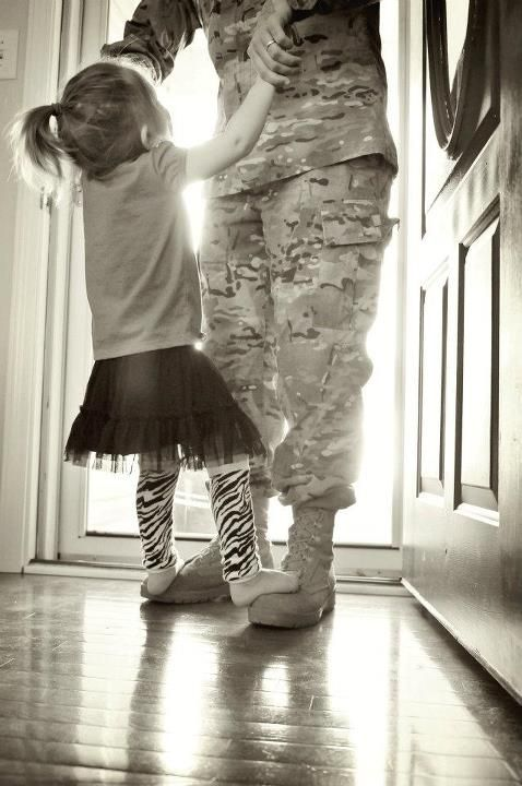 Dancing with Daddy, I did this when I was little :)