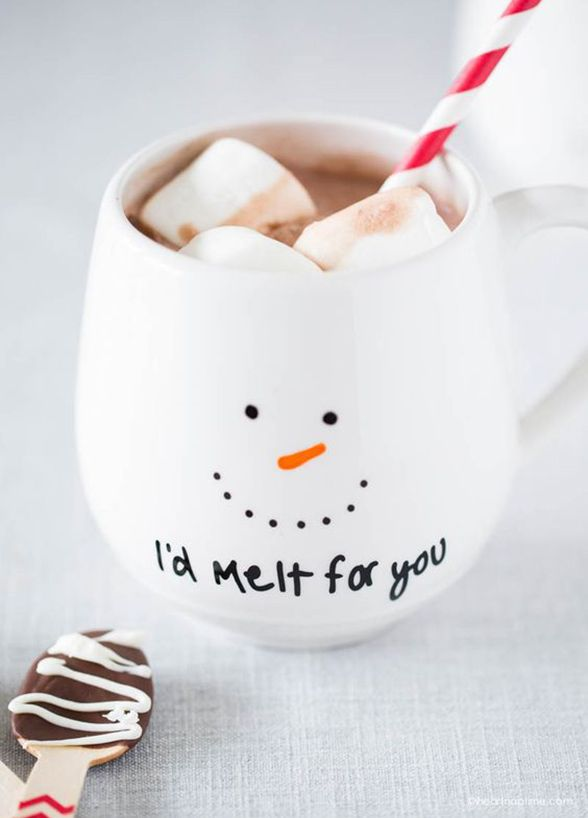 Every coffee drinker knows you can never have enough mugs around the house. Personalize a few blank mugs for the perfect gift! Courtesy of I Heart Nap Time