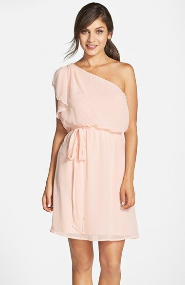 nouvelle AMSALE 'Stella' One-Shoulder Chiffon Dress