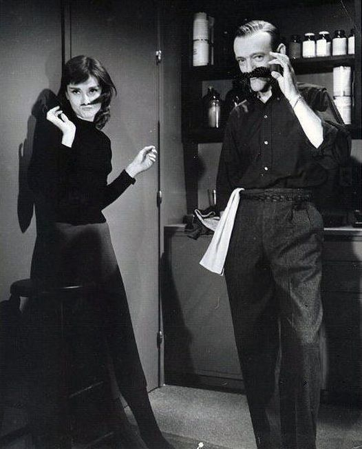 "In this special edition of Mustache Monday, Audrey Hepburn clowns around with Fred Astaire during the filming of Funny Face.  Lovers of Audrey Hepburn, New York City, and NYPL already know that the iconic Stephen A. Schwarzman Building is featured during Audrey's famous ""things we've never done before"" jaunt to the library in Breakfast at Tiffany's. If you've never been inside, do yourself a favor this summer and come explore!"