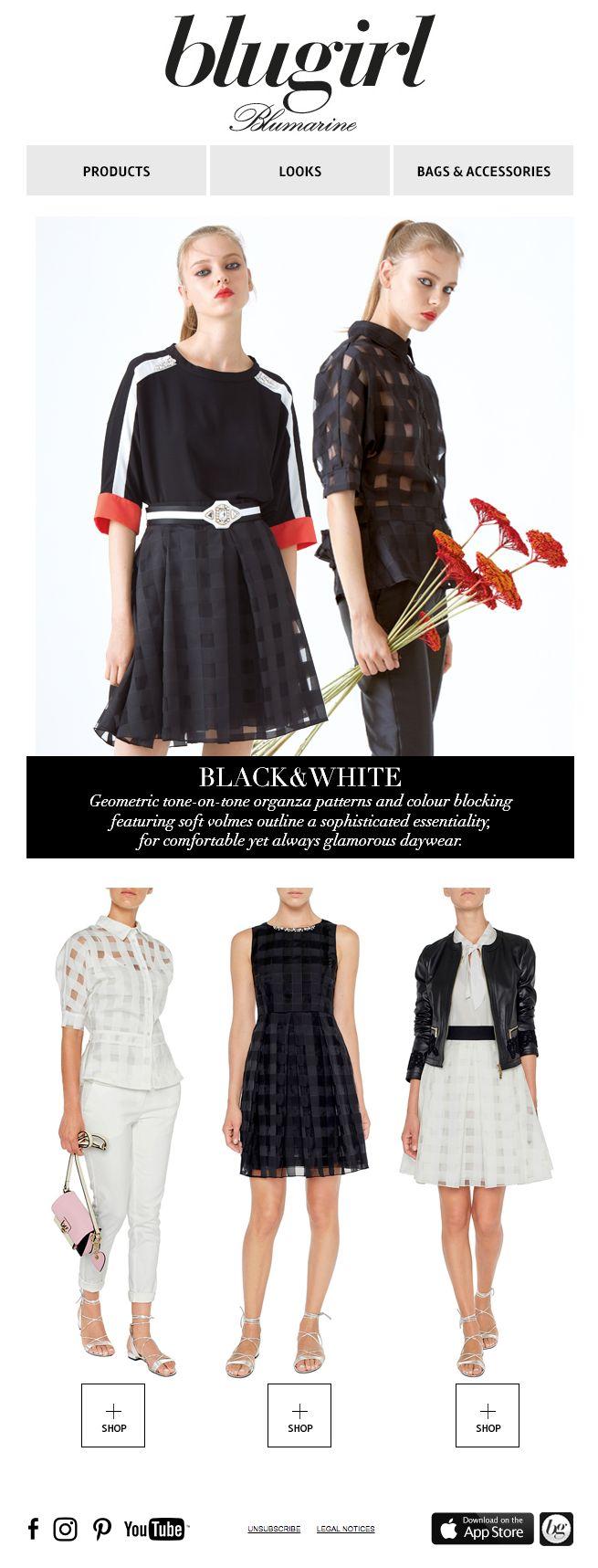 Black&White • Blugirl Spring Summer 2017 Collection