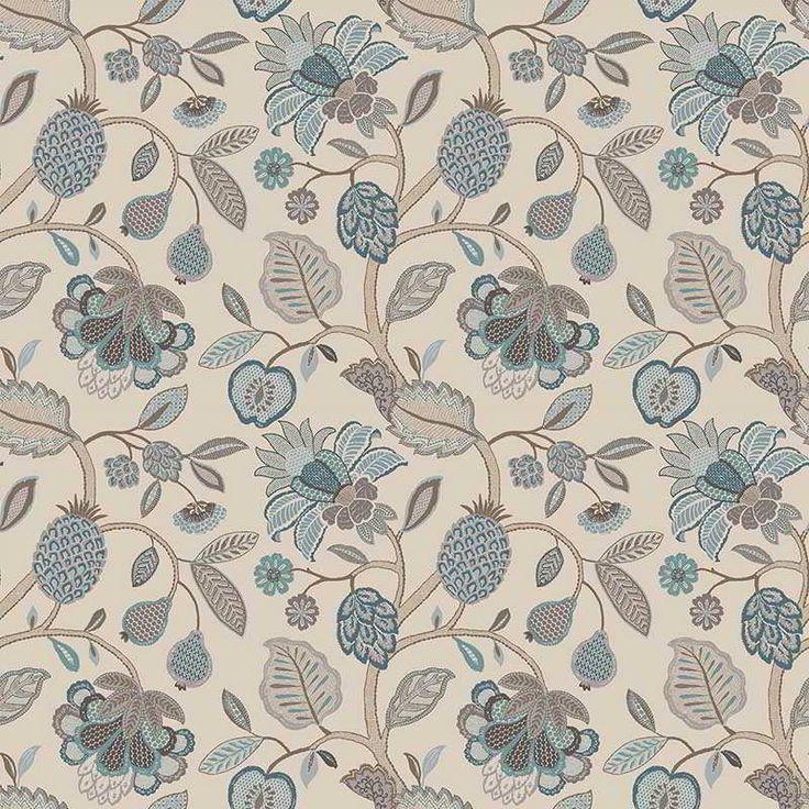 Warwick Fabrics : TIMELESS GRACE, Colour DUCK EGG