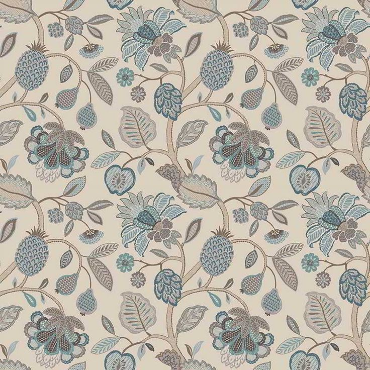 Warwick Fabrics : TIMELESS GRACE DUCK EGG