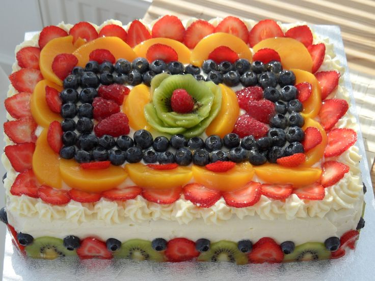 Fruit decorations on cake cake decorations pinterest for Decoration fruit