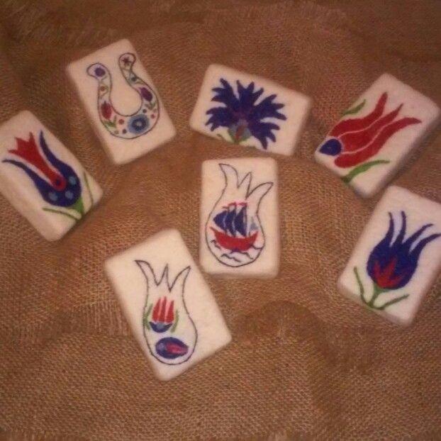 İznik Desenli Keçe Sabunlar