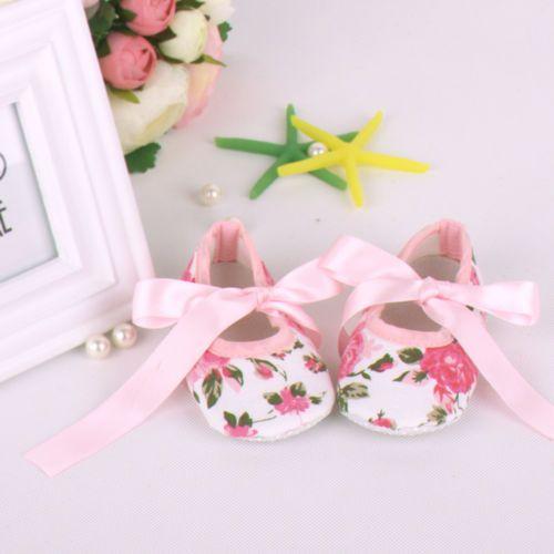Toddler-Baby-Shoes-Newborn-Girls-Soft-Soled-Princess-Crib-Shoes-039-Prewalker-0-12M