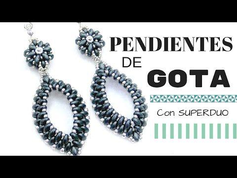 Tutorial Pendientes Gota con Superduo [98-ETN] - €0.00 : Crystaldreams Abalorios , Cuentas , Fornituras, Tienda on-line