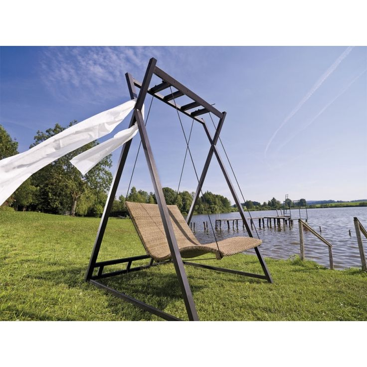 MBM Heaven Swing Geflecht Hollywoodschaukel mit Aluminium Gestell