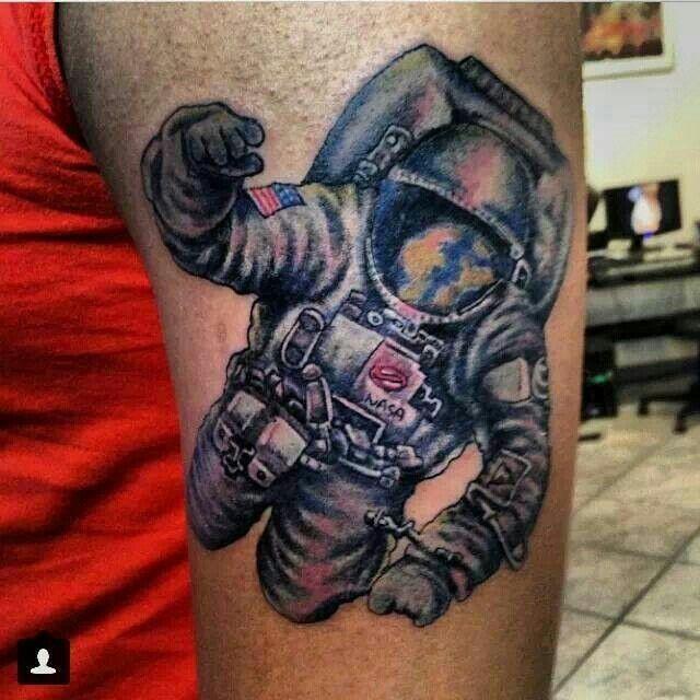 dog astronaut tattoo - photo #10
