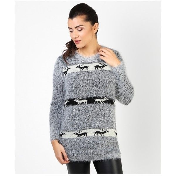Shop For Womens Cheap Christmas Jumpers | Krisp (€24) ❤ liked on Polyvore featuring tops, sweaters, xmas sweaters, xmas jumpers, christmas sweaters and christmas jumpers