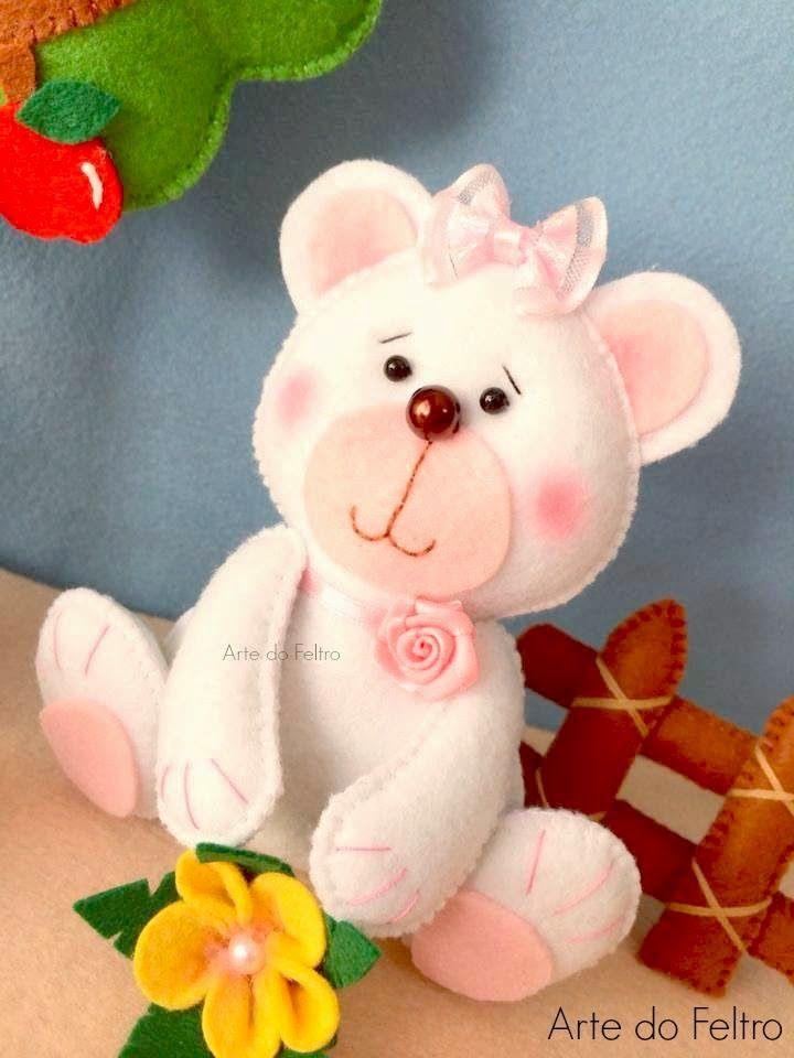 ✿Arte do Feltro✿: Ursinha Baby