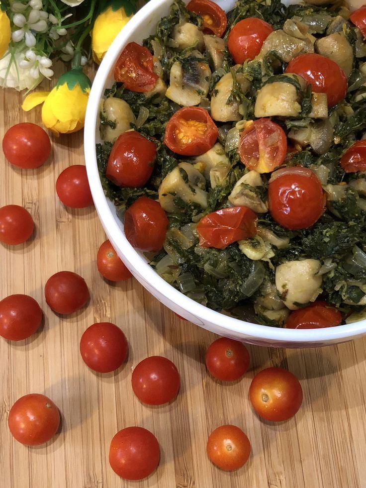 Mushroom Methi With Cherry Tomatoes - Perfect Winter Lunch Recipe