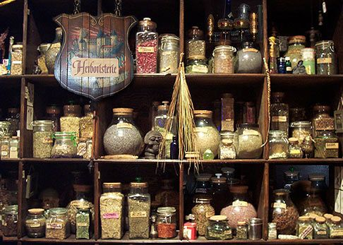 Charmes et Sortilège à Montréal L'Herboristerie, qui contient près de 200 types d'herbes
