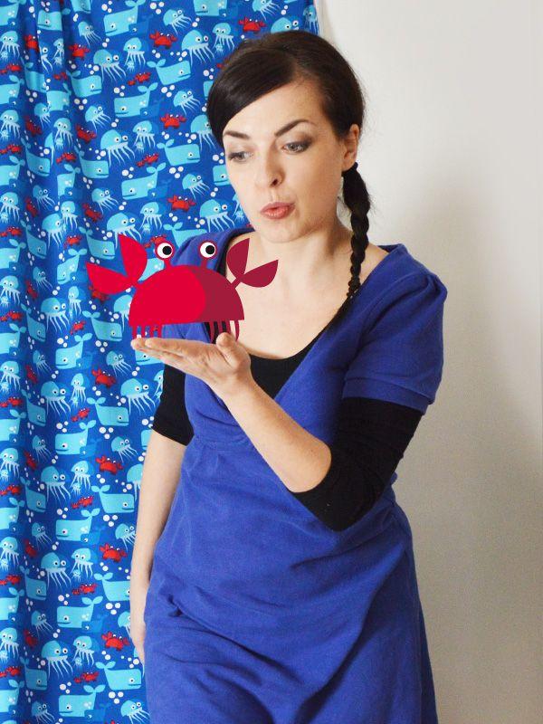 lillestoff enemenemeins kiss the crab sewing pattern fabric onion