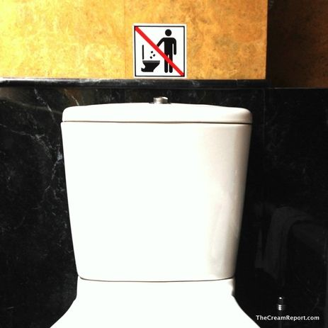 No paper in toilet bowl? Whaaaat!