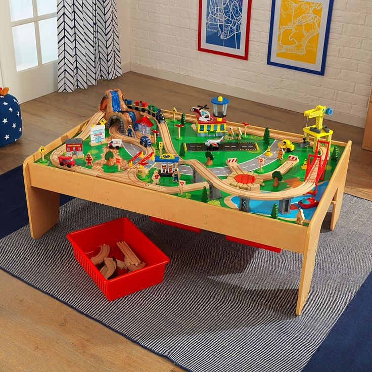 The KidKraft Waterfall Mountain Train Table Set is perfect for little conductors. With 120 colorful pieces kids will love the adventure of pushing the ... & 29 best Trains Sets \u0026 Train Tables images on Pinterest | Train ...