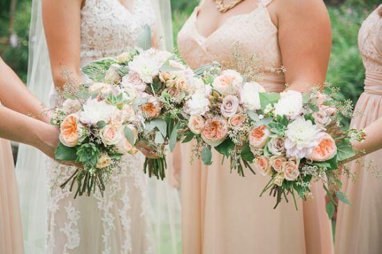 Gallery - Pastel Peach Vintage Wedding