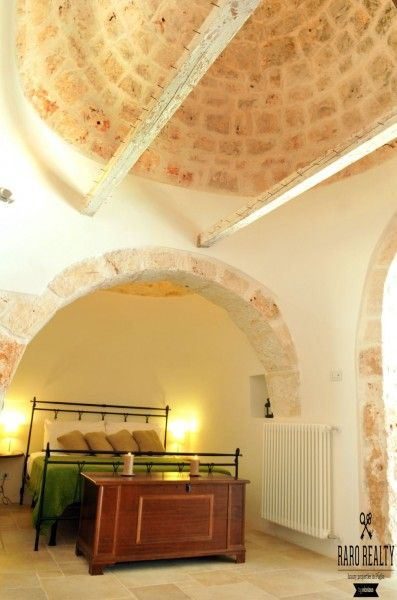 Unique #bedroom with conic ceiling in a #trullo