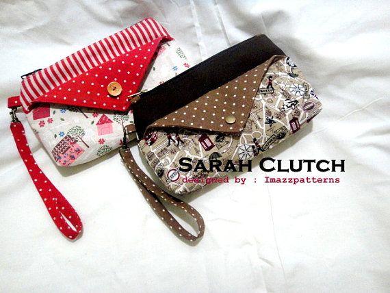 PDF pattern  Clutch / wristlet  in 2 sizes  by Imazzpatterns