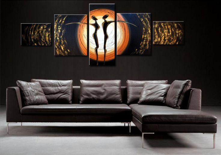 Élettel teli modern dekoráció festett vászonképekkel
