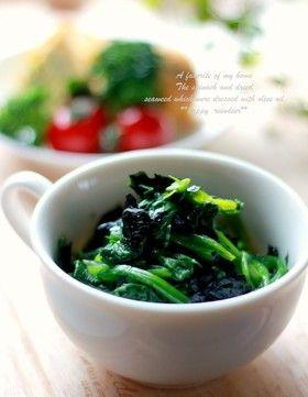 ほうれん草の海苔和え by +tonakai+ [クックパッド] 簡単おいしいみんなのレシピが242万品