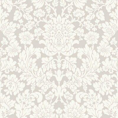 Greywhite brocade print wallpaper   VictorianGothic RomanceHaute Couture Inspired Ideas
